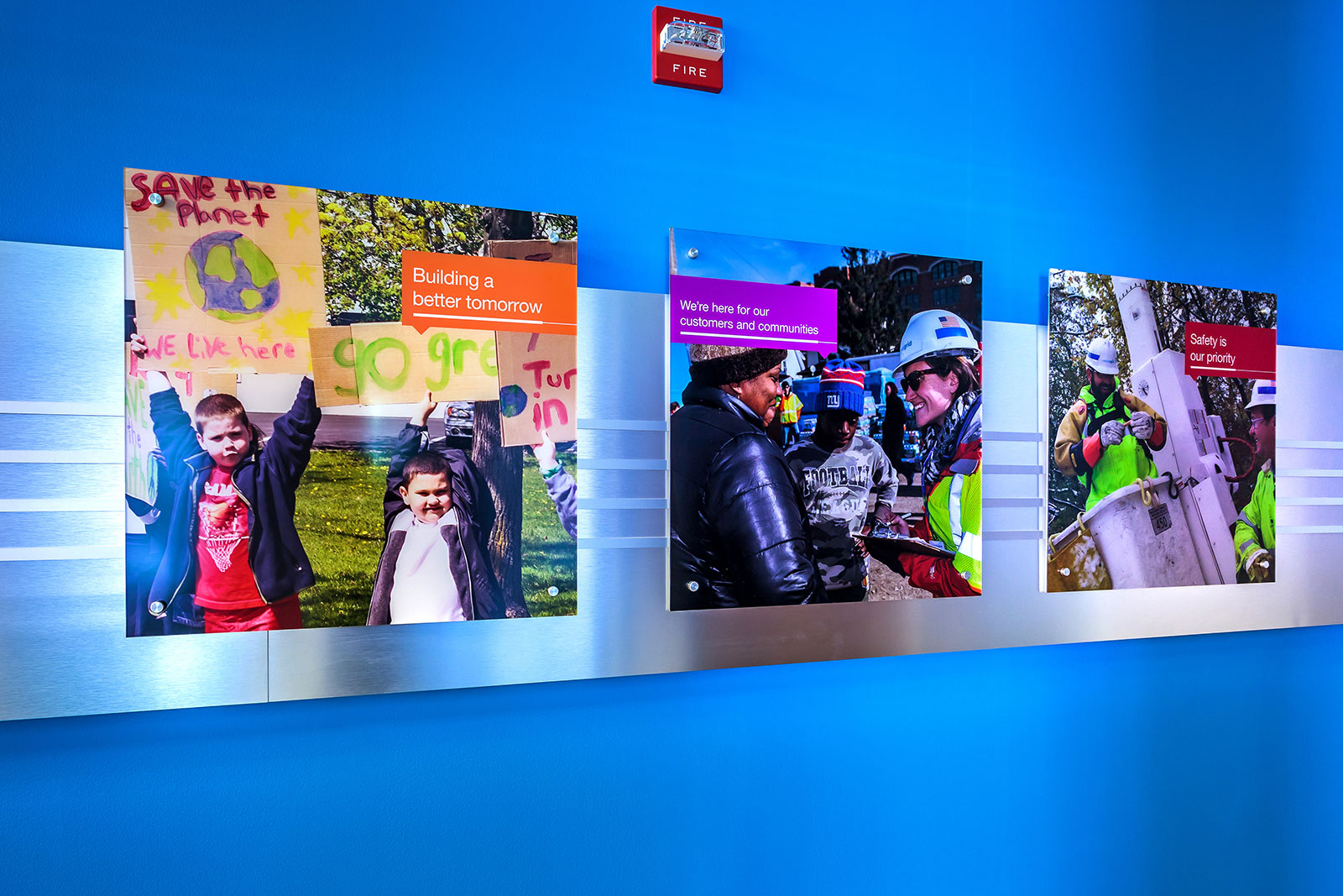 Commercial Branded Environment, �National Grid Environmental Graphics