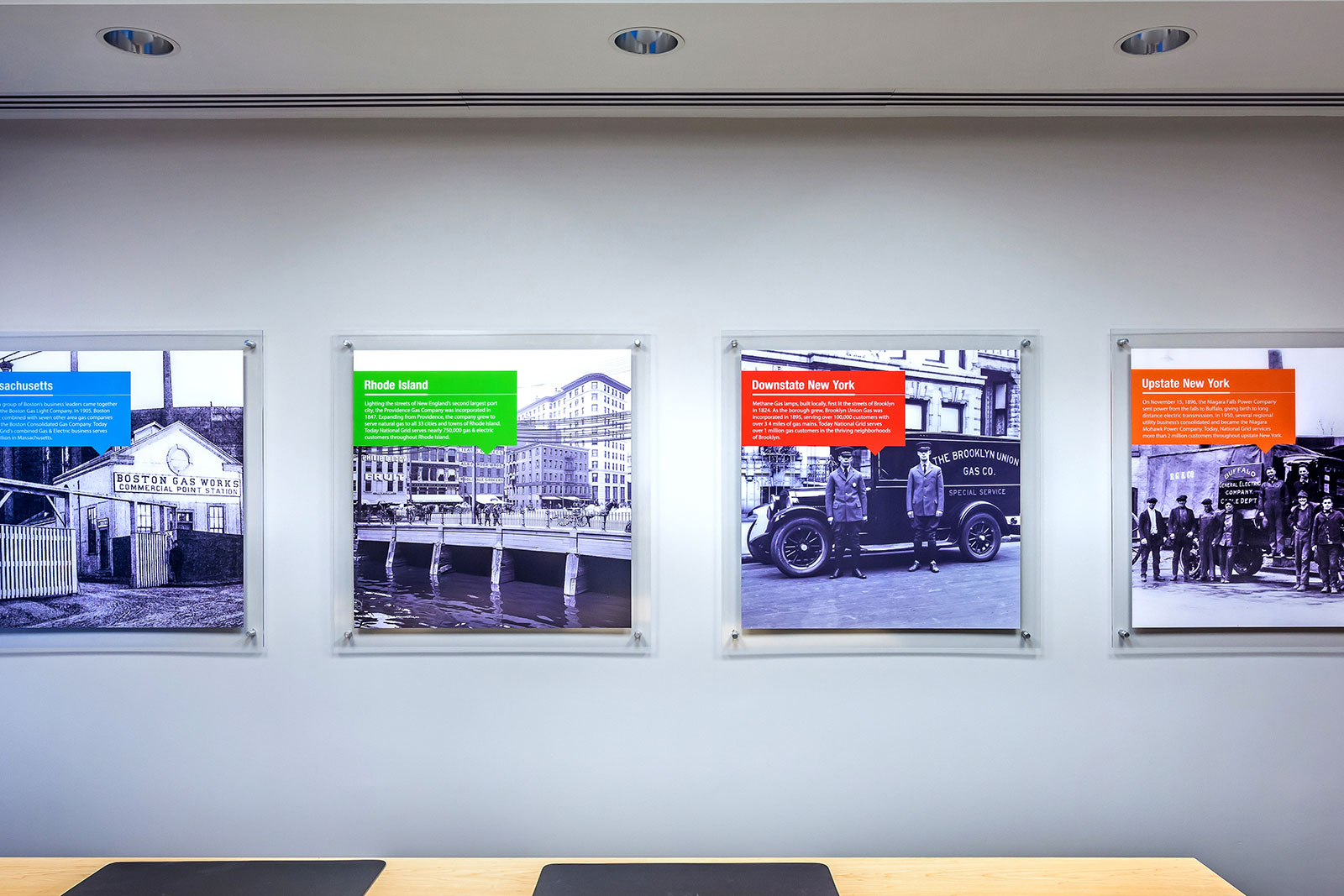 Commercial Branded Environment, �National Grid Environmental Graphics, Office Design