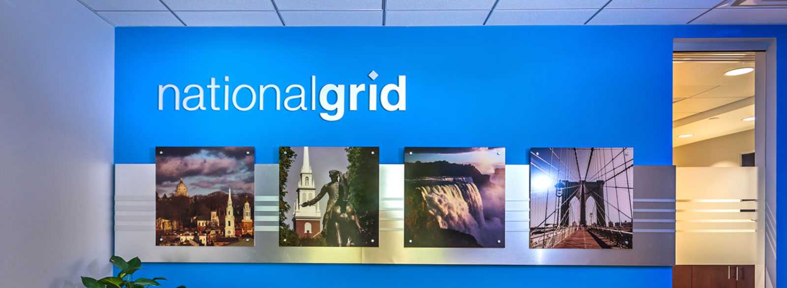 Commercial Branded Environment, Office Design for National Grid Corporate Office