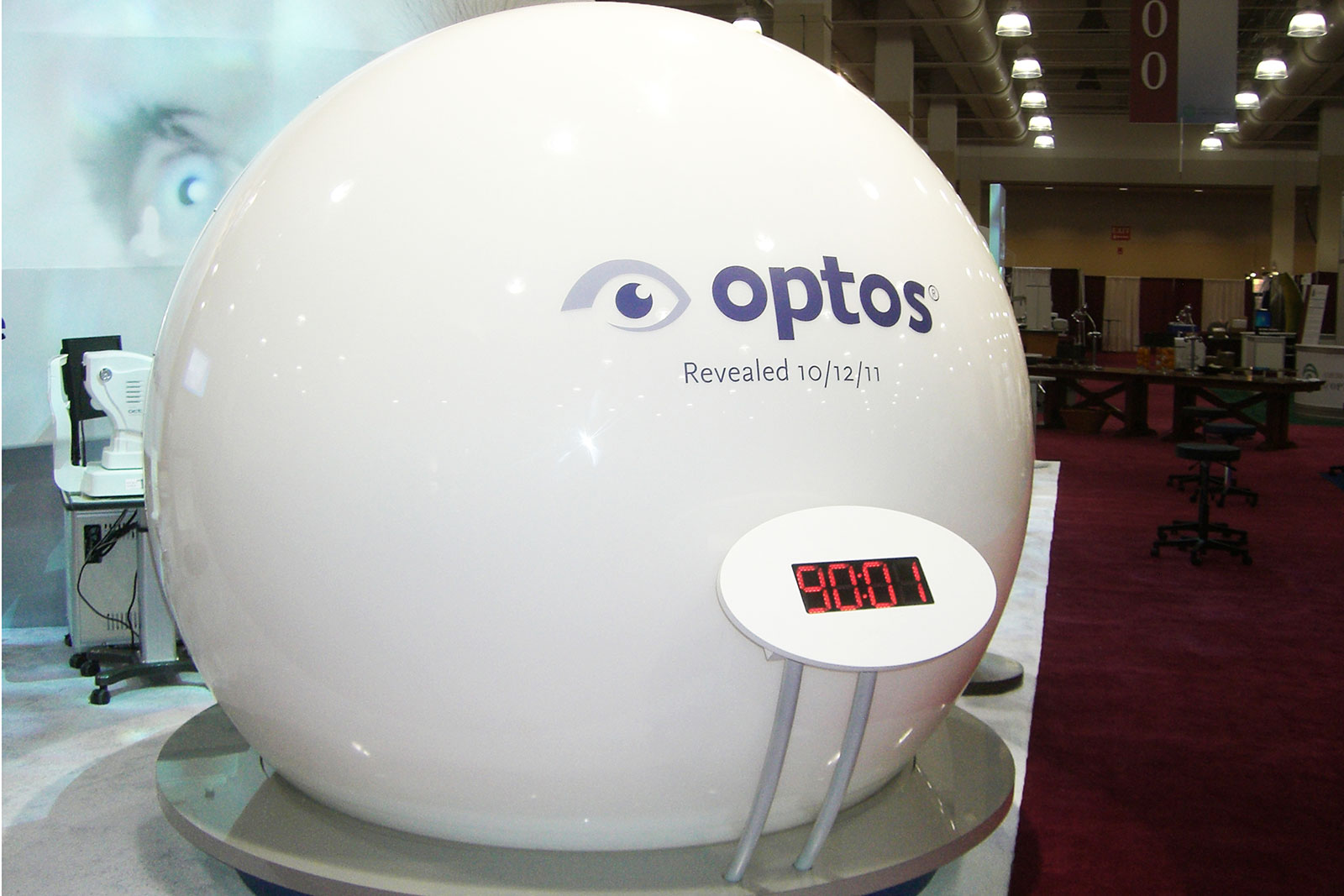 Custom Branded Environment for Optos at Academy of Optometry Trade Show, Product Launch