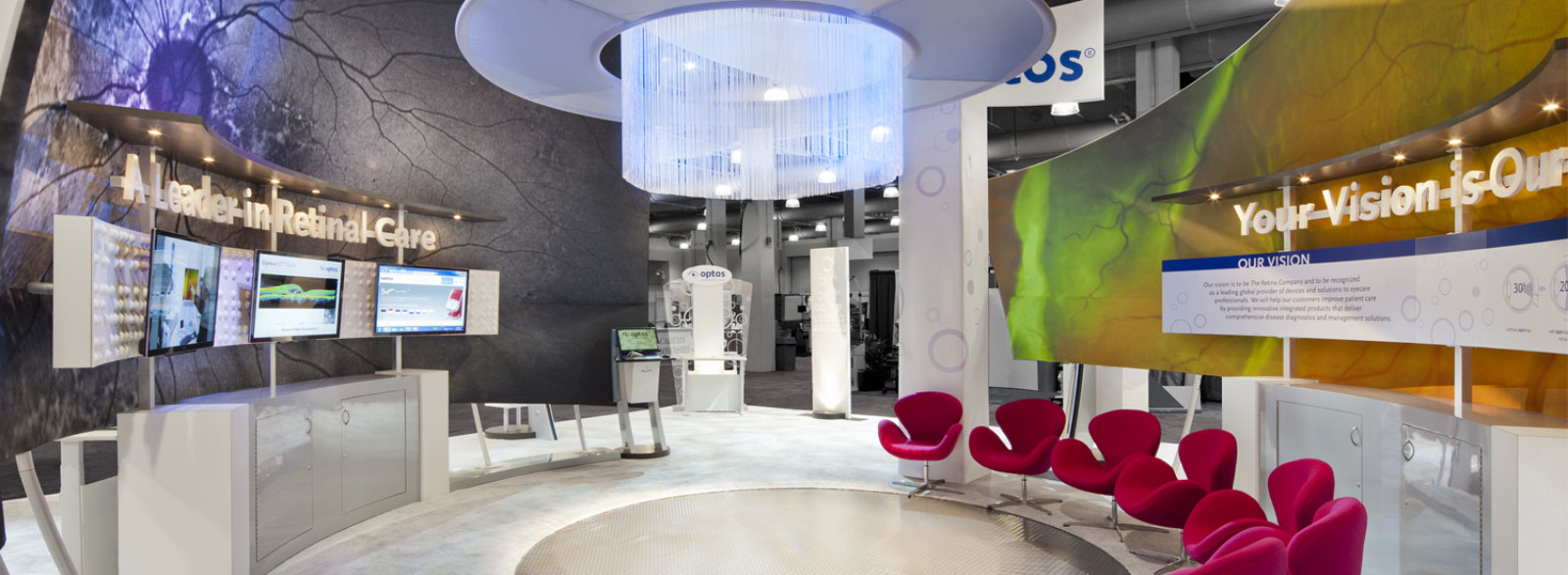Custom Branded Environment, Optos at Academy of Optometry Trade Show