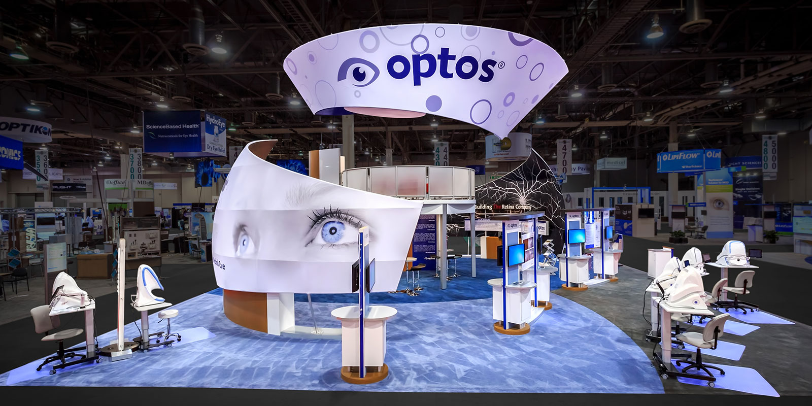 Hill & Partners Custom Branded Environment for Optos