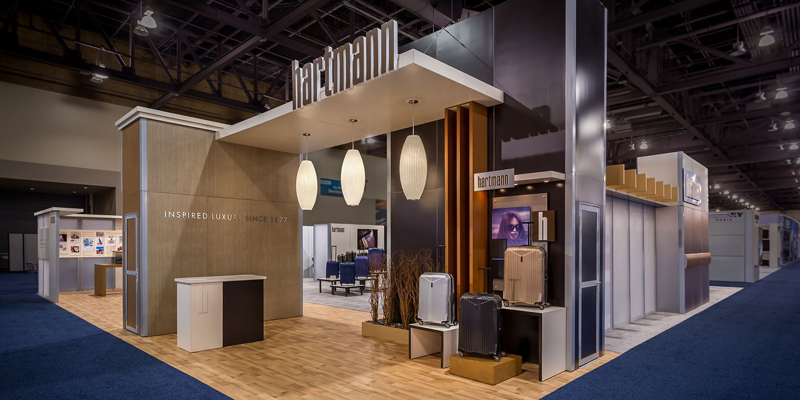 Hill & Partners Rental Branded Environment Trade Show Exhibit for Hartmann