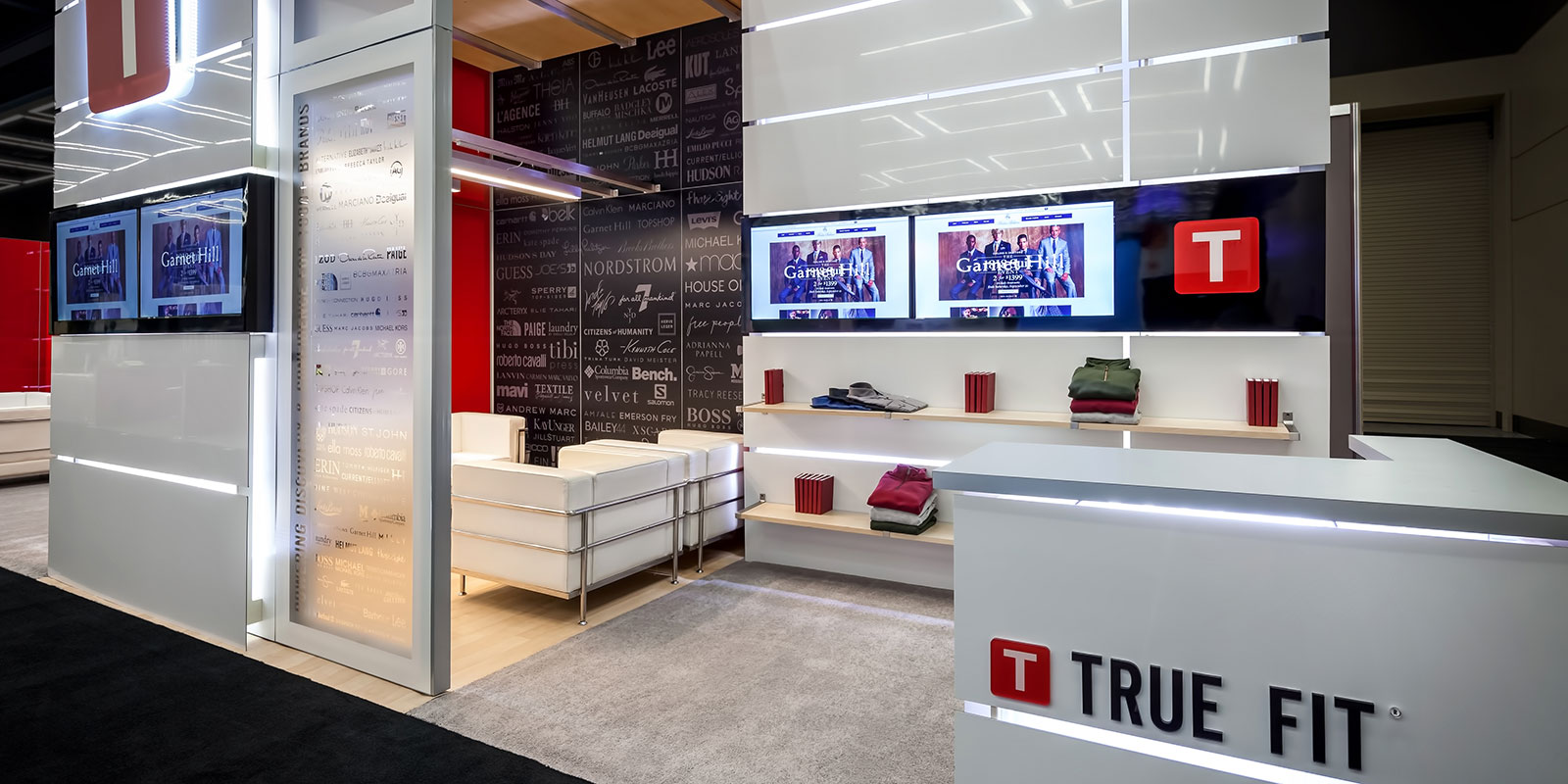 Hill & Partners Rental Branded Environment Trade Show Exhibit for True Fit