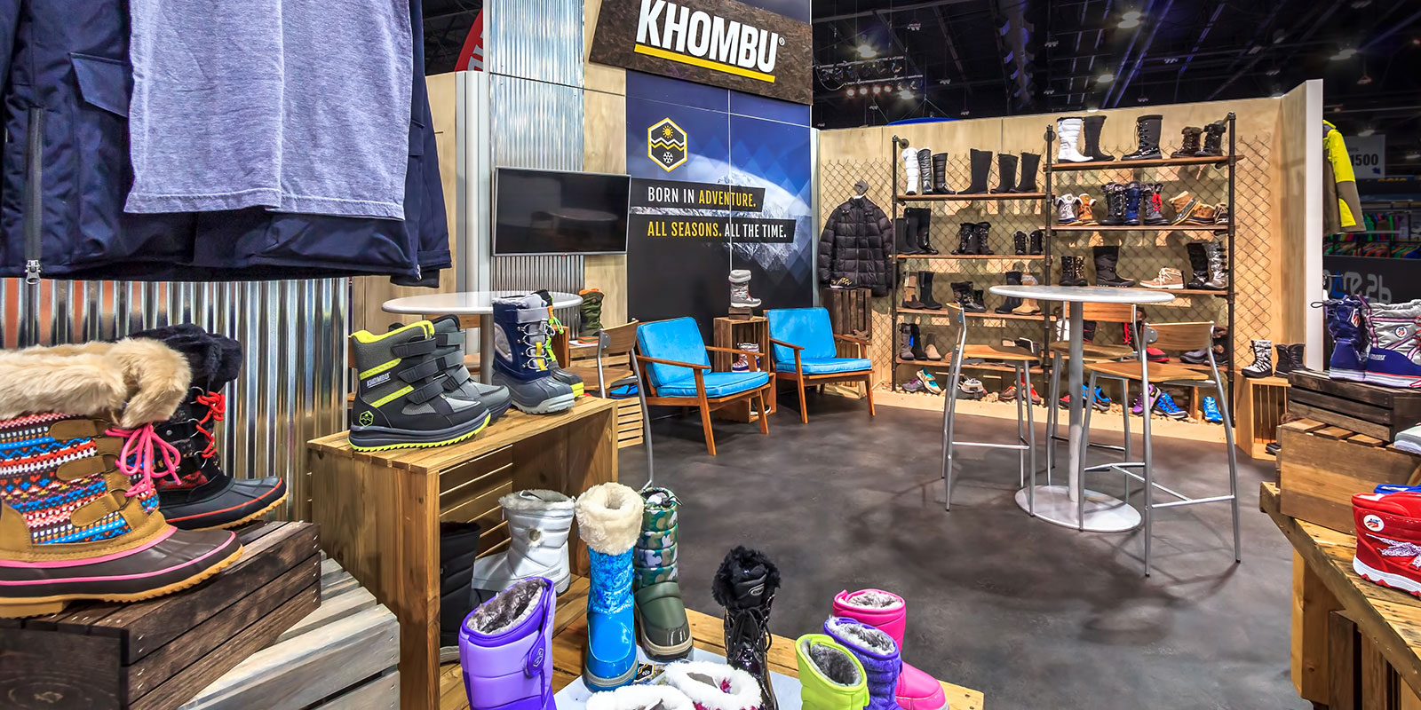 Hill & Partners Rental Branded Environment Trade Show Exhibit for Khombu