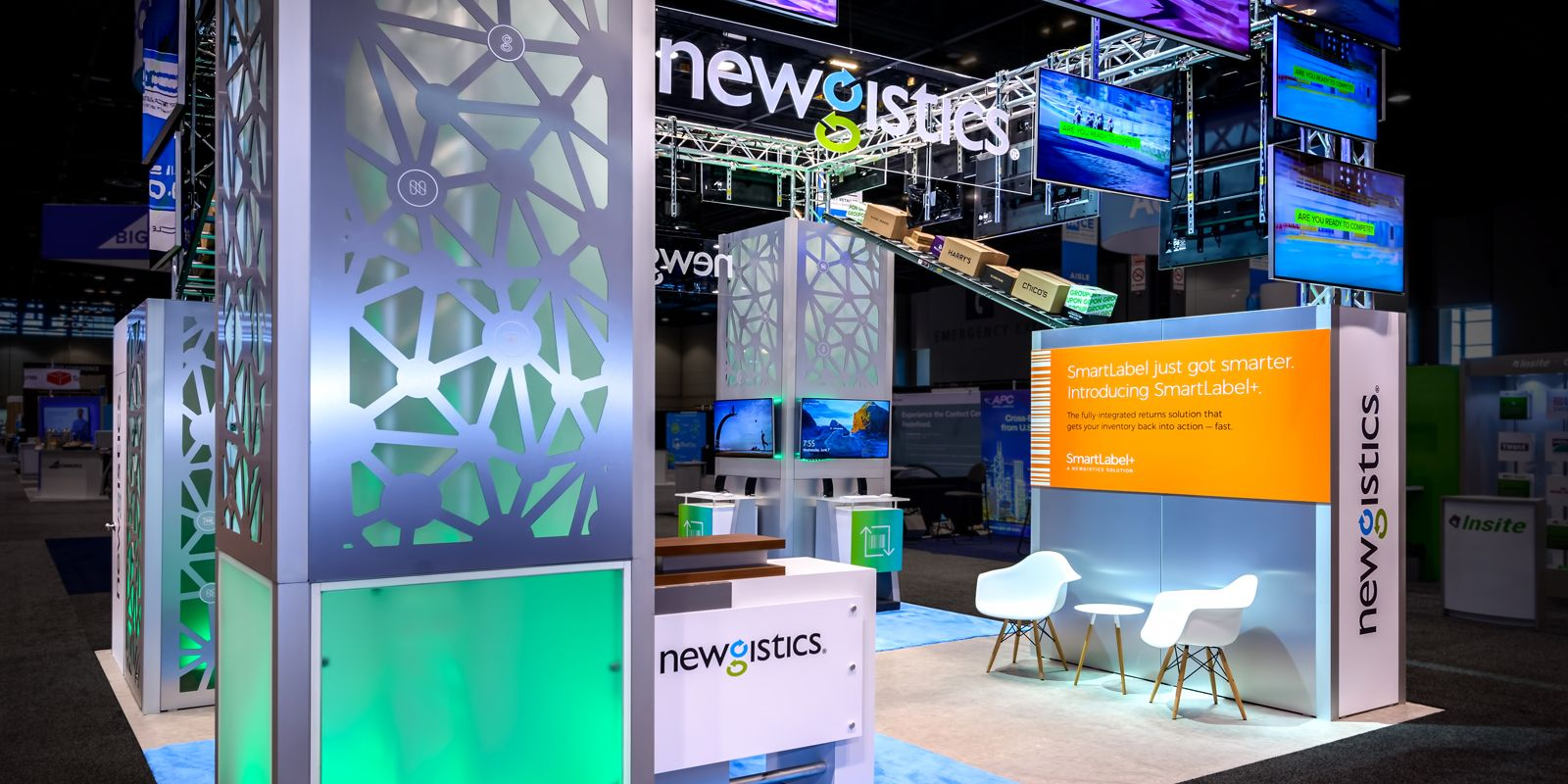 Hill & Partners Rental Branded Environment Trade Show Exhibit for Newgistics
