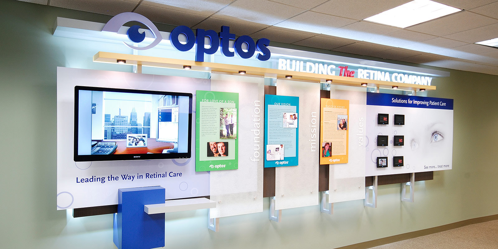 Hill & Partners Commercial Branded Environment for  Optos